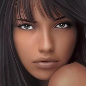 Девушка брюнетка фото лица