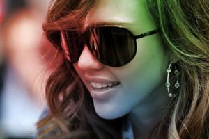 Красивая фото лица, Красивая девушка в очках.