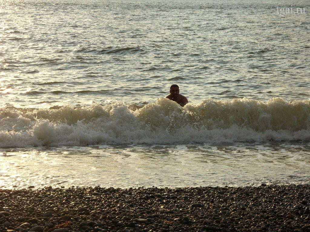 Фото море, волны, закат