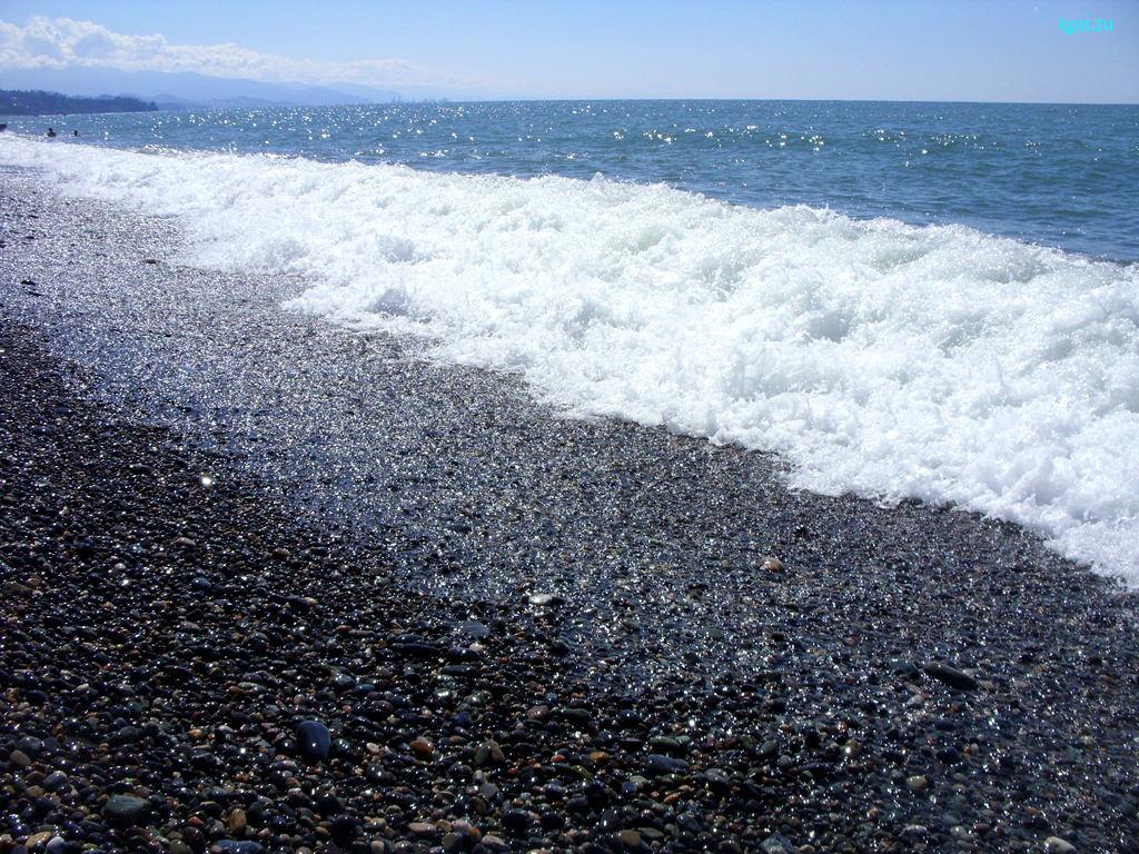 скачать море, небо, волны, песок,  пляж