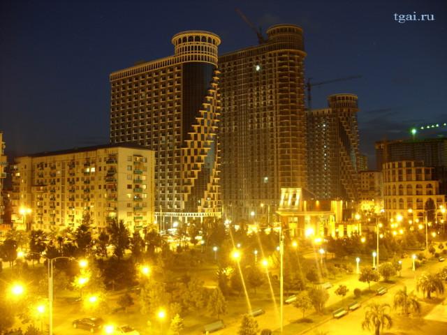 фото ночной Батуми - огни света. Красивые города мира