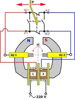Схема подключения дрели с реверсом