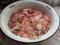 Приправленная свиное мясо
